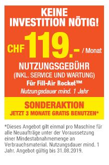 Fill-Air Rocket™ Luftbeutel-Verpackungssystem