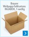 Braune Wellpapp-Faltkartons RAJABOX, 1-wellig